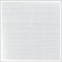 Кассетный потолок SKY 600 перфорированный 3 мм 600х600х0.4 мм, белый матовый Люмсвет